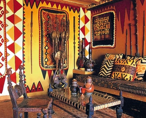 African Heritage House roof room.