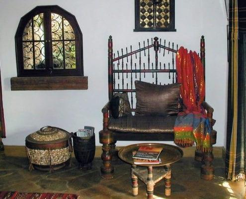 Lamu settee in Lamu suite.