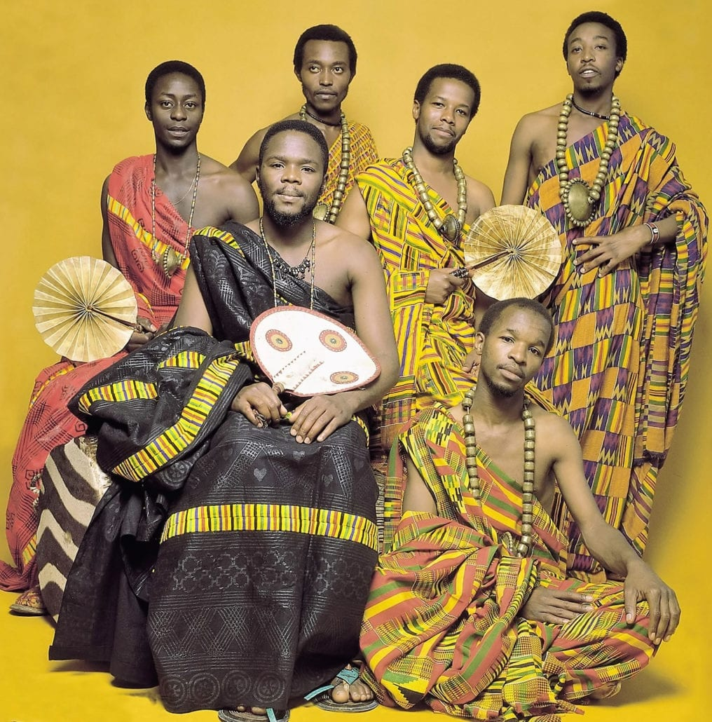 African Heritage Band in Ashanti royal cloths from Ghana