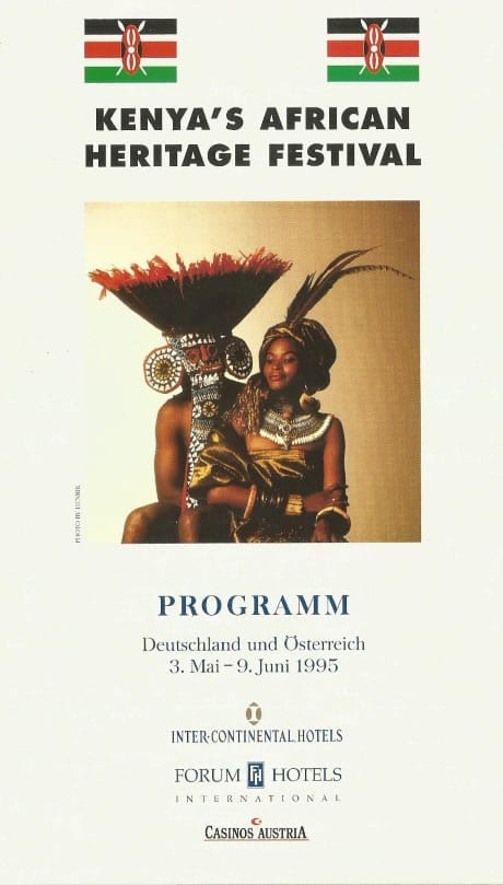 African Heritage Festival 1995 Tour of Europe - Programme