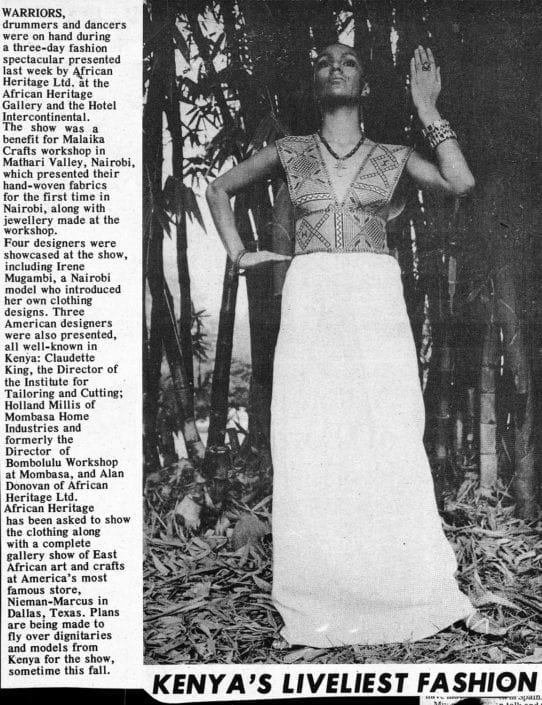 African Heritage first fashion design from Ethiopian Shema cloth in Hollywood, California