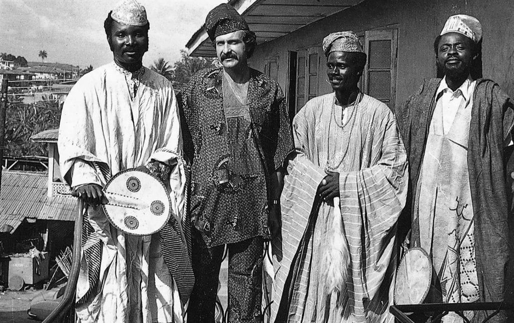 Alan Donovan with Oshogbo artists