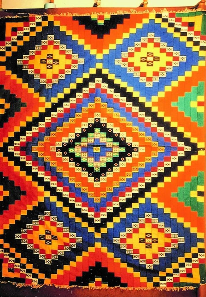 Checkerboard textile from Burkina Faso