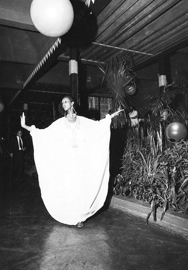 Iman first time on the catwalk at African Heritage Night at Maasai Lodge -1975