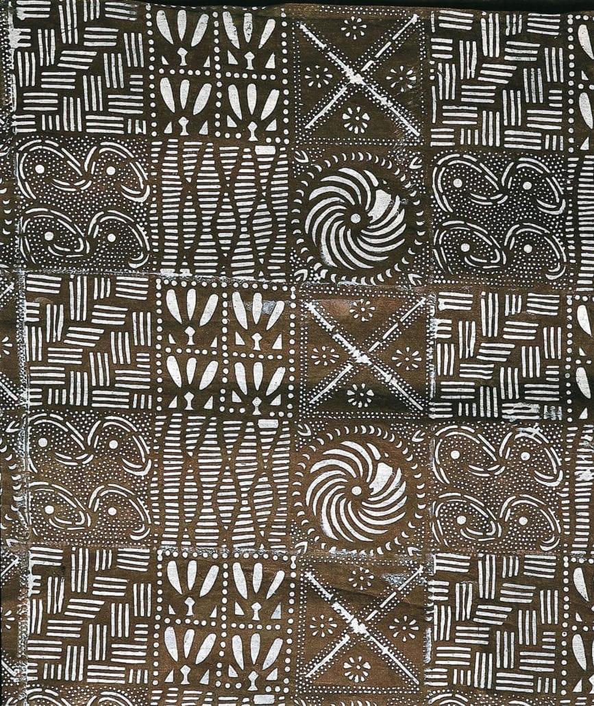 Indigo-dyed Adire cloth from Nigeria