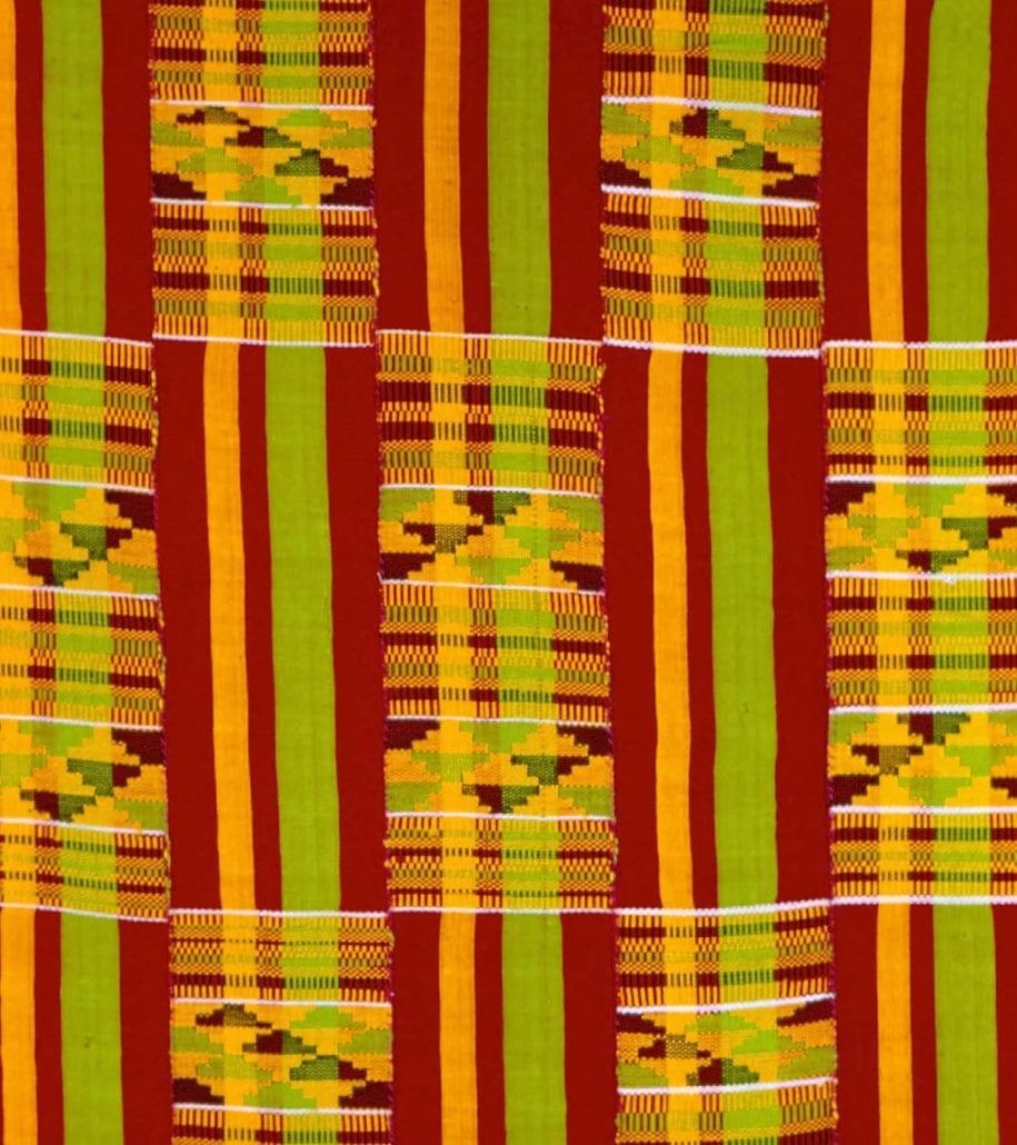 Kente textile from Ghana