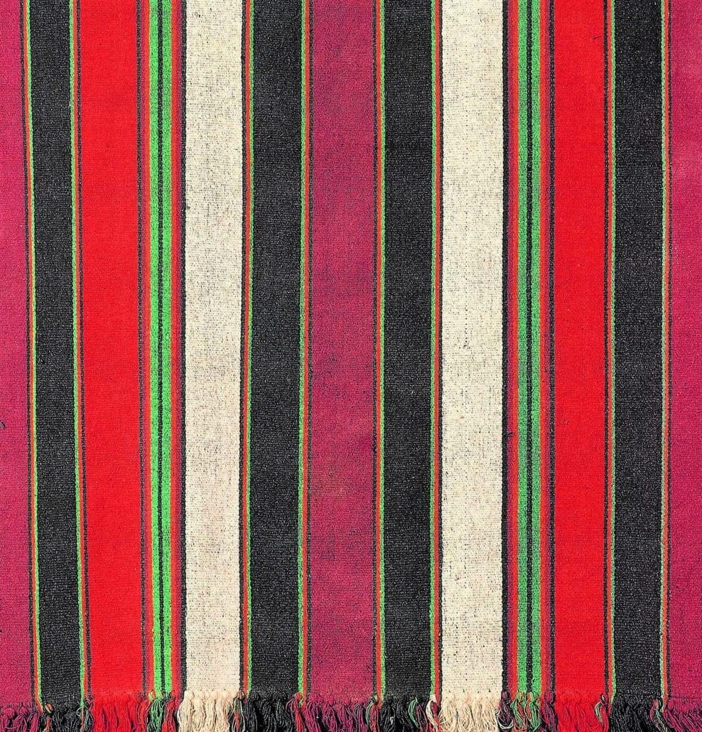 Madagascar Lamba Mena raw silk textile