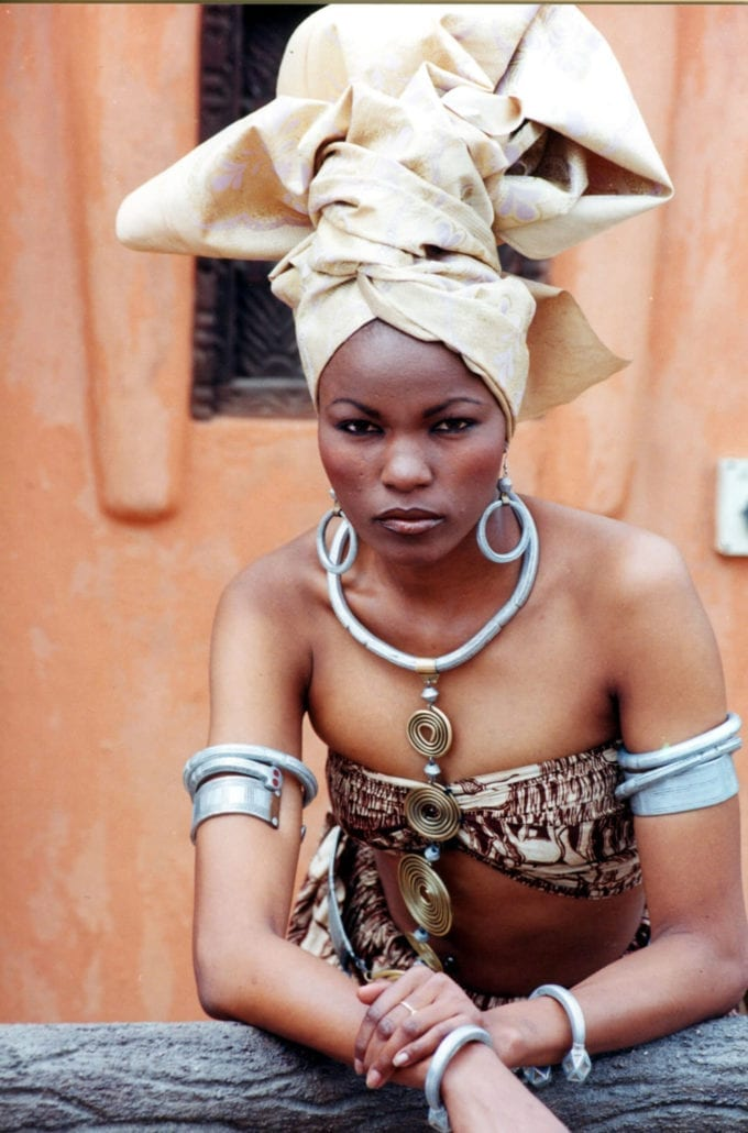 Model Barney Hassan in African Heritage design at African Heritage House