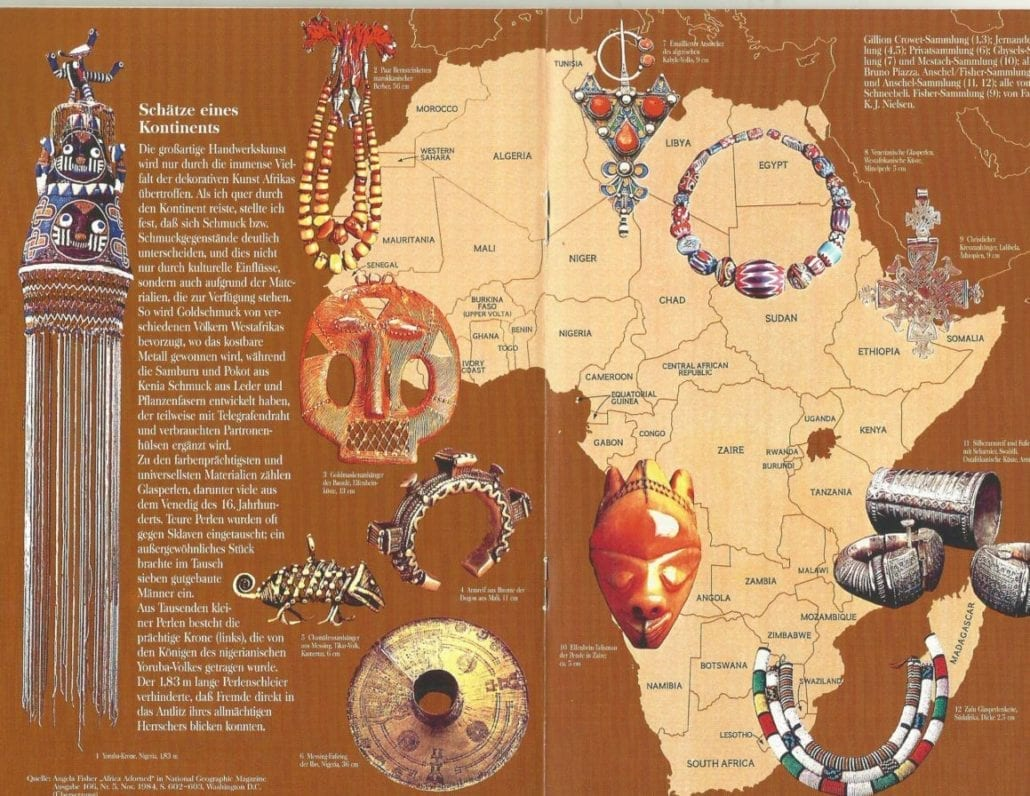 This is the centerpiece for the AH Tour of Europe l995, take from Angela Fisher's glorious book, AFRICA ADORNED in National Geographic Magazine. The tour was sponsored by Lufthansa.