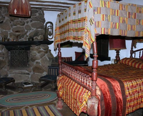 Bed in Moroccan suite