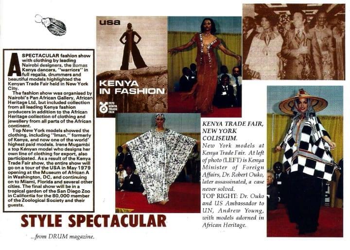 Kenya Fashion in New York.