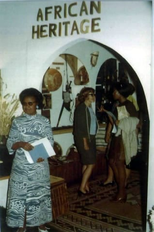 The first African Heritage Gallery in the back of the old Studio Arts 68 in Nairobi in 1972 with the first Nigerian exhibition.